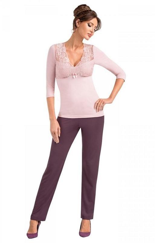 Koszula nocna Donna Simone pudrowy róż | Hurtownia Tomix